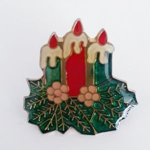 Vintage Christmas Candles Pin